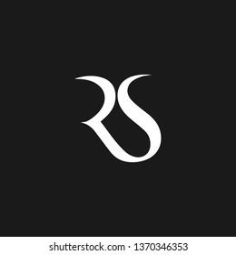 RS or R S letter alphabet logo design in vector format.