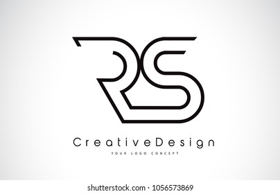 RS R S Letter Logo Design in Black Colors. Creative Modern Letters Vector Icon Logo Illustration.