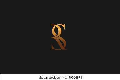 RS, SR Letter Logo Design with Creative Modern Trendy Typography