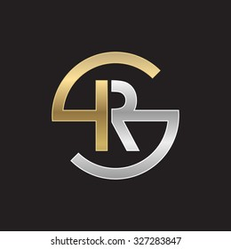 RS or SR letters, golden silver circle S shape