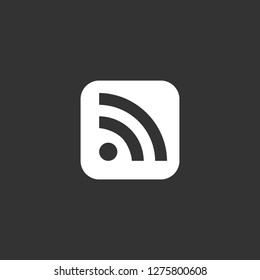 rss icon vector. rss vector graphic illustration