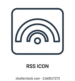 Rss icon vector isolated on white background, Rss transparent sign , outline linear symbol or thin lined pictogram