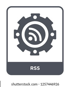 rss icon vector on white background, rss trendy filled icons from Marketing collection, rss simple element illustration