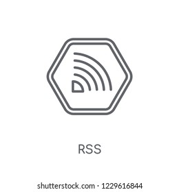 Rss linear icon. Modern outline Rss logo concept on white background from Marketing collection. Suitable for use on web apps, mobile apps and print media.