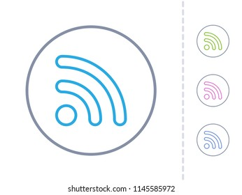 RSS Sign - Simple Icons. A minimalistic vector icon.