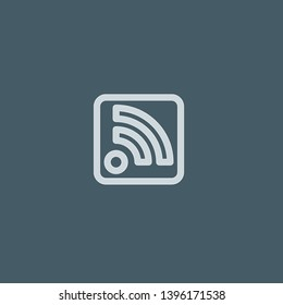 Rss vector icon. Rss concept stroke symbol design. Thin graphic elements vector illustration, outline pattern for your web site design, logo, UI. EPS 10.