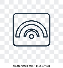 Rss vector icon isolated on transparent background, Rss logo concept