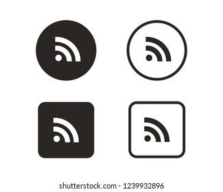 RSS wifi icon sign symbol