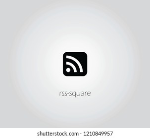 rss-square  icon vector