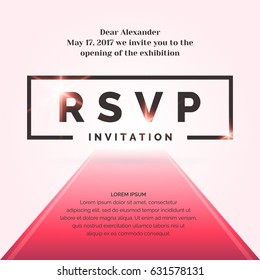 Gala invitation stock vectors images vector art shutterstock invitation template for the event vector illustration stopboris Images
