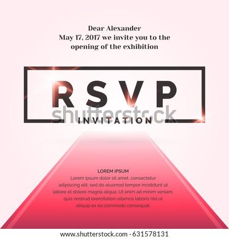 rsvp invitation template event vector illustration stock vector