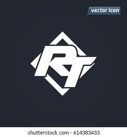 RT icon in square vector illustration