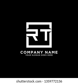 RT Initial Logo design,RT letter modern square vector, clean and strong illustration