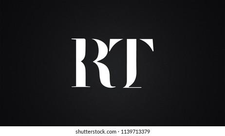 RT Letter Logo Design Template Vector