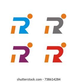 RT or R logo letter design template vector