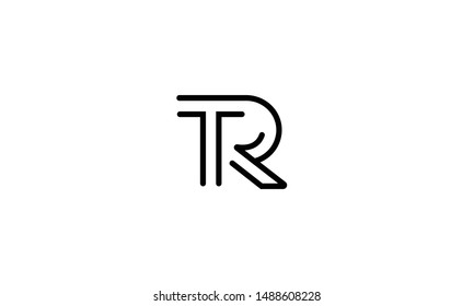 RT or TR R T abstract letter mark vector logo monogram template