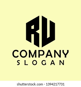 ru hexagon logo abstract colour