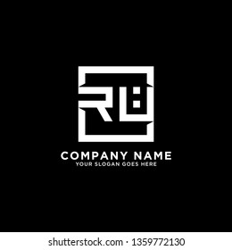 RU Initial Logo design,RU letter modern square vector, clean and strong illustration
