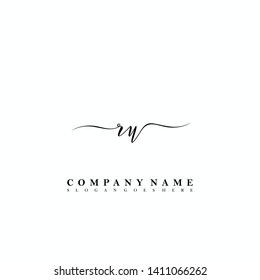 RU Initial luxury handwriting logo vector
