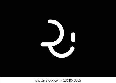 RU letter logo design on luxury background. UR monogram initials letter logo concept. RU icon design. UR elegant and Professional white color letter icon design on black background. RU UR R U