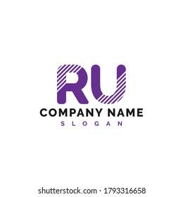 RU Letter Logo Design. RU letter logo Vector Illustration - Vector