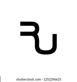 ru letter vector logo