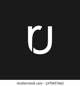 RU or R U letter alphabet logo design in vector format.