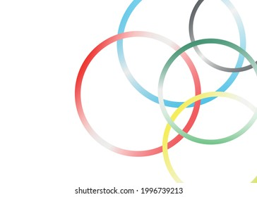 rubber bands. Abstract vector background with circles