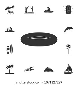 Rubber dinghy icon. Detailed set of Summer illustrations. Premium quality graphic design icon. One of the collection icons for websites, web design, mobile app on white background