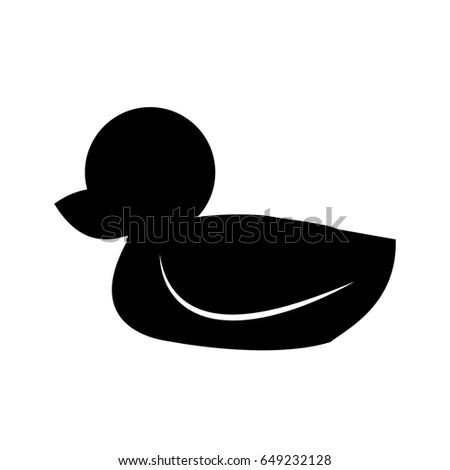 rubber duck bath toy icon silhouette stock vector royalty free