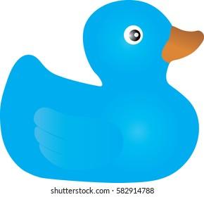 Rubber duck blue