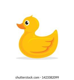 Rubber duck logo vector illustration