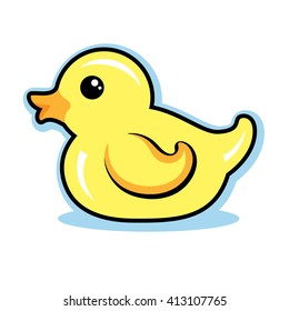 Rubber Ducky Vector Illustration Cute