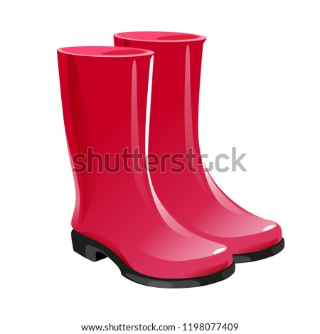 796ecd5648 Rubber Garden boots. Protection shoes. Working uniform. Waterproof footwear.  Isolated white background