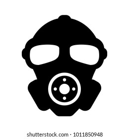 Rubber military respirator vector icon illustration isolated on white background