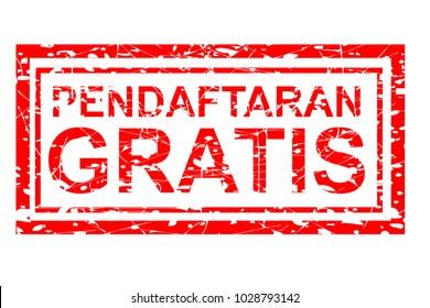 Rubber Stamp Effect Pendaftaran Gratis (Free Registration in Indonesia Language)