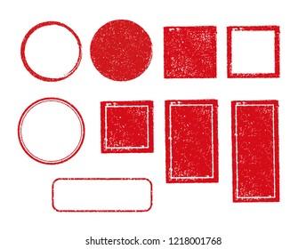 rubber stamp frame set (square, circle, rectangle etc.)