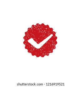 rubber stamp icon (for teachers using at school)  / check mark