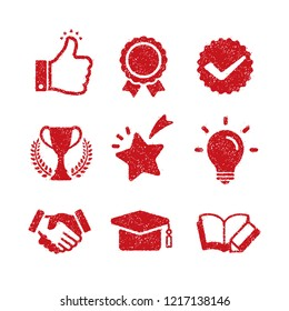 rubber stamp icon (for teachers using at school)  / no text