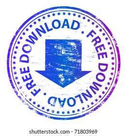 "Rubber stamp illustration showing ""FREE DOWNLOAD"" text"