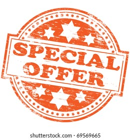 "Rubber stamp illustration showing ""SPECIAL OFFER"" text"