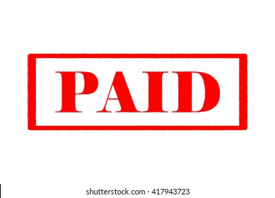 """Rubber stamp """"Paid"""""""