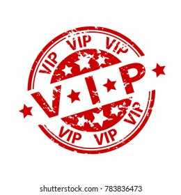 Rubber Stamp Seal - Vip - Very Important Person