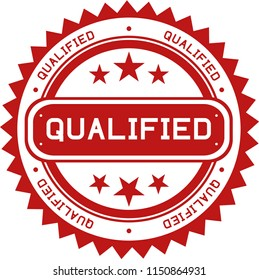 rubber stamp template that shows the word QUALIFIED