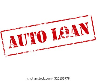 Rubber stamp with text auto loan inside, vector illustration