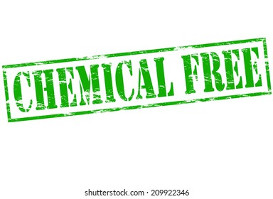 Rubber stamp with text chemical free inside, vector illustration