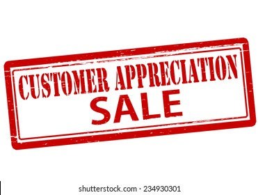 Rubber stamp with text customer appreciation inside, vector illustration