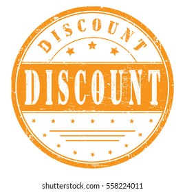 "rubber stamp with text ""discount"" on white, vector illustration"