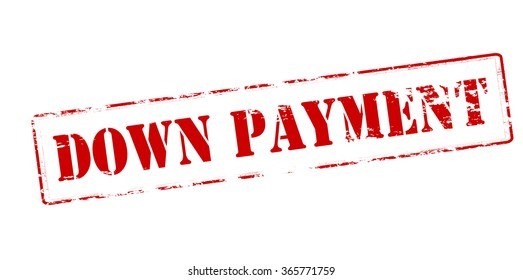 Rubber stamp with text down payment inside, vector illustration