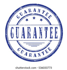 Rubber stamp with text, GUARANTEE, on white, vector illustration